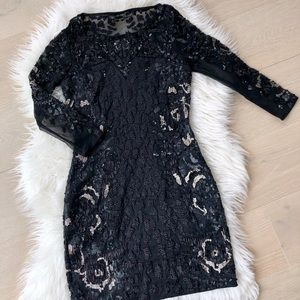 All Saints beaded ivy cocktail dress